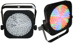 RGBW / RGBA 144 LED Slim Puck Par 64 Can Light