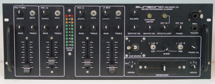 sunsonic sound for underground dance the technical foundation sunsonic mx1200 professional dj mixer