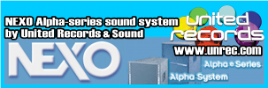United Records & Sound Nexo Alpha-series Sound System Logo